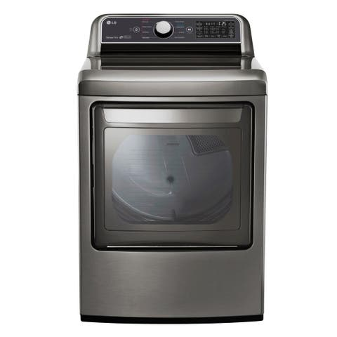 LG DLG7301VE 7.3 cu. ft. Smart wi-fi Enabled Gas Dryer with Sensor Dry Technology - Gray