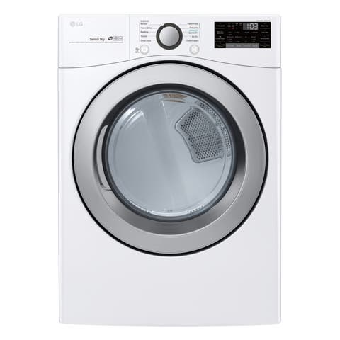 LG DLE3500W 7.4 cu. ft. Ultra Large Capacity Smart wi-fi Enabled Electric Dryer - White