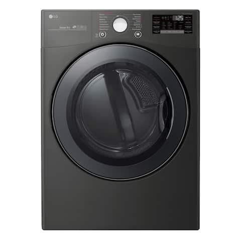LG DLGX3901B 7.4 cu.ft. Smart wi-fi Enabled Gas Dryer with TurboSteam - Black
