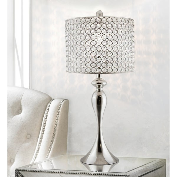 Silver Orchid Burkett 26.5-inch Polished Nickel Table Lamp. Opens flyout.