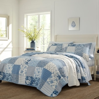 Laura Ashley Paisley Patchwork Cotton Quilt Set