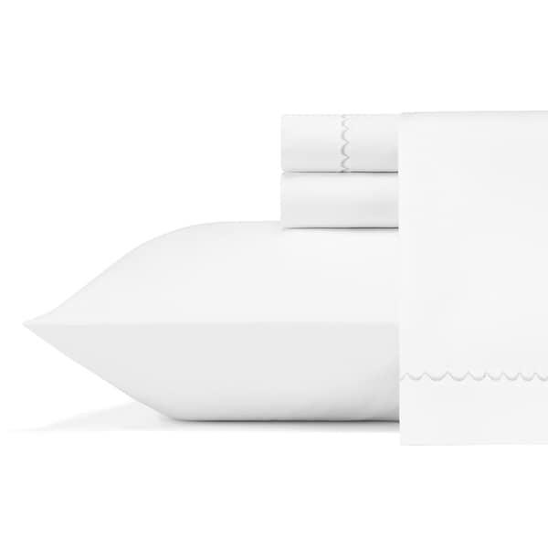 Vera Wang Simple Scallop Sateen Cotton Sheet Set. Opens flyout.