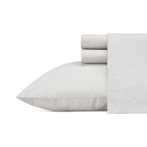 Vera Wang Eyelet Silver Sateen Cotton Sheet Set