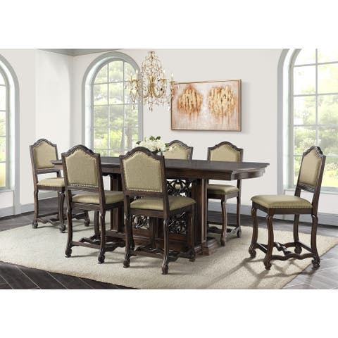 Picket House Furnishings Chloe Counter Height 7PC Dining Set-Table & Six Chairs