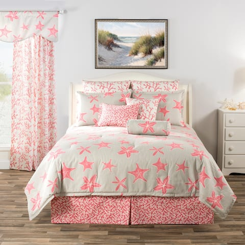 Key Biscayne tropical pink starfish daybed set