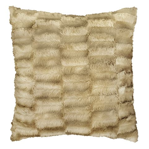 Lauren Taylor- Monroe Textured Faux Fur Cushion