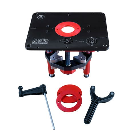 """JessEm 02120 Mast-R-Lift II Router Lift w/ 9-1/4"""" by 11-3/4"""" Top Plate"""