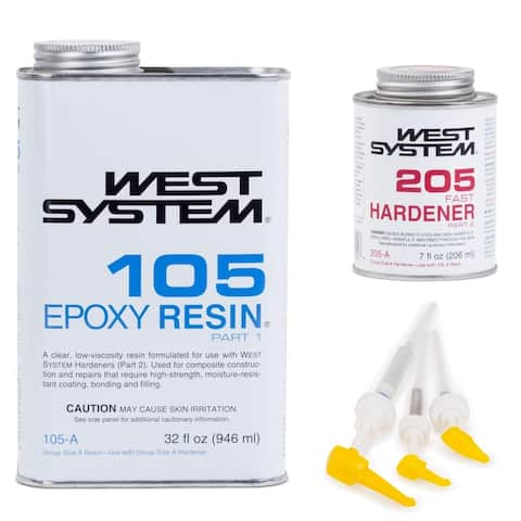 West System 105 Epoxy Resin with Fast Epoxy Hardener & Mini Pumps Set