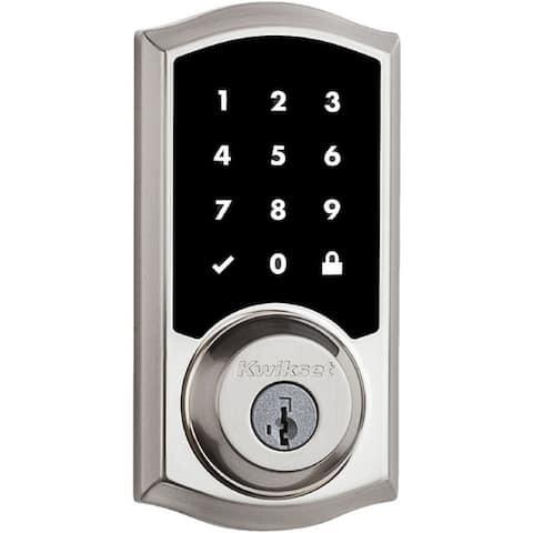 Kwikset 99150-002 SmartCode 915 Deadbolt w/ Smart Key, Satin Nickel