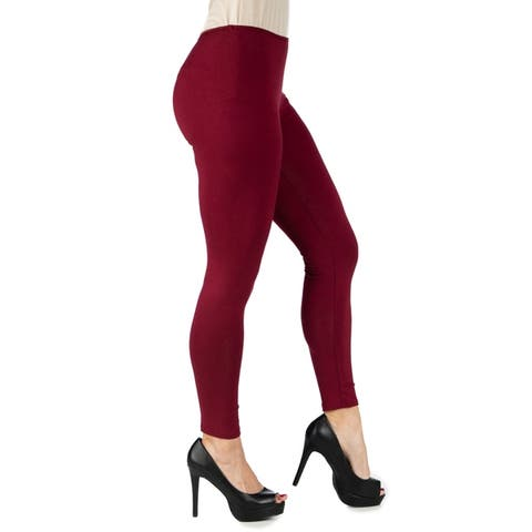 24seven Comfort Apparel Womens Comfortable Ankle Length Leggings