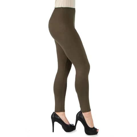 24seven Comfort Apparel Womens Comfortable Ankle Length Leggings