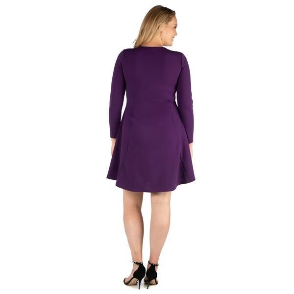 Shop 24seven Comfort Apparel Long Sleeve Knee Length Plus ...