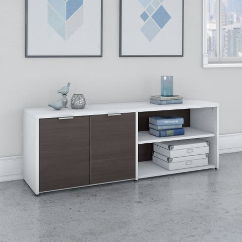 Jamestown Low Storage Cabinet with Shelves by Bush Business Furniture