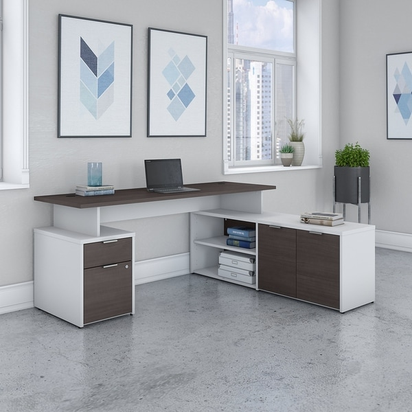 Jamestown 72W L Shaped Desk with Drawers by Bush Business Furniture. Opens flyout.