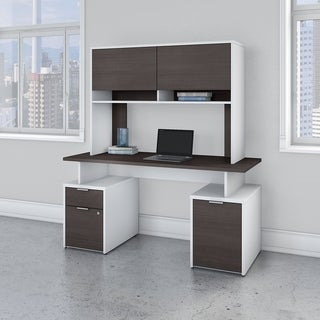 Jamestown 60W Desk with Storage and Hutch by Bush Business Furniture