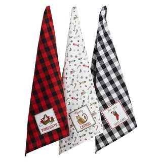 DII Christmas Pet Embellished Dishtowel Set/3
