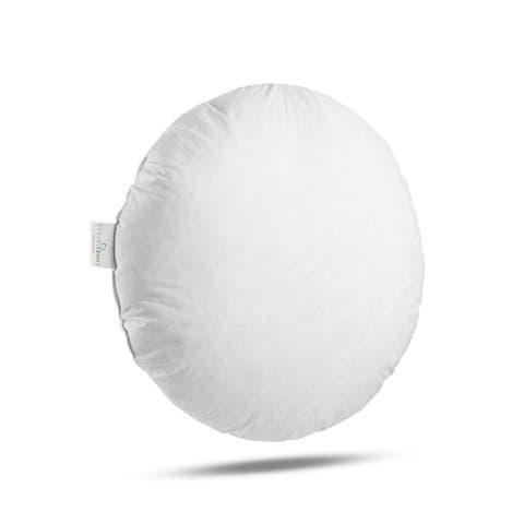 ComfyDown 95% Feather 5% Down, Round Decorative Pillow Insert, Sham Stuffer.