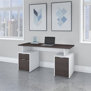 Jamestown 60W Desk with Drawers and Storage by Bush Business Furniture