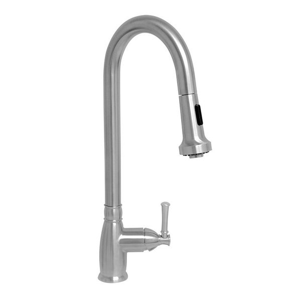 Whitehaus Collection Single-Hole Faucet with Pull Down Spray Head. Opens flyout.