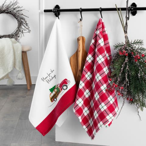 """Home for the Holidays Kitchen Towels, Set of 2 - 16""""x28"""""""