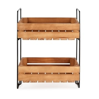 DII Farmhouse Crate Tiered Stand