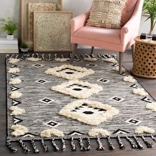 Saguaro Handmade Wool Boho Textured Area Rug
