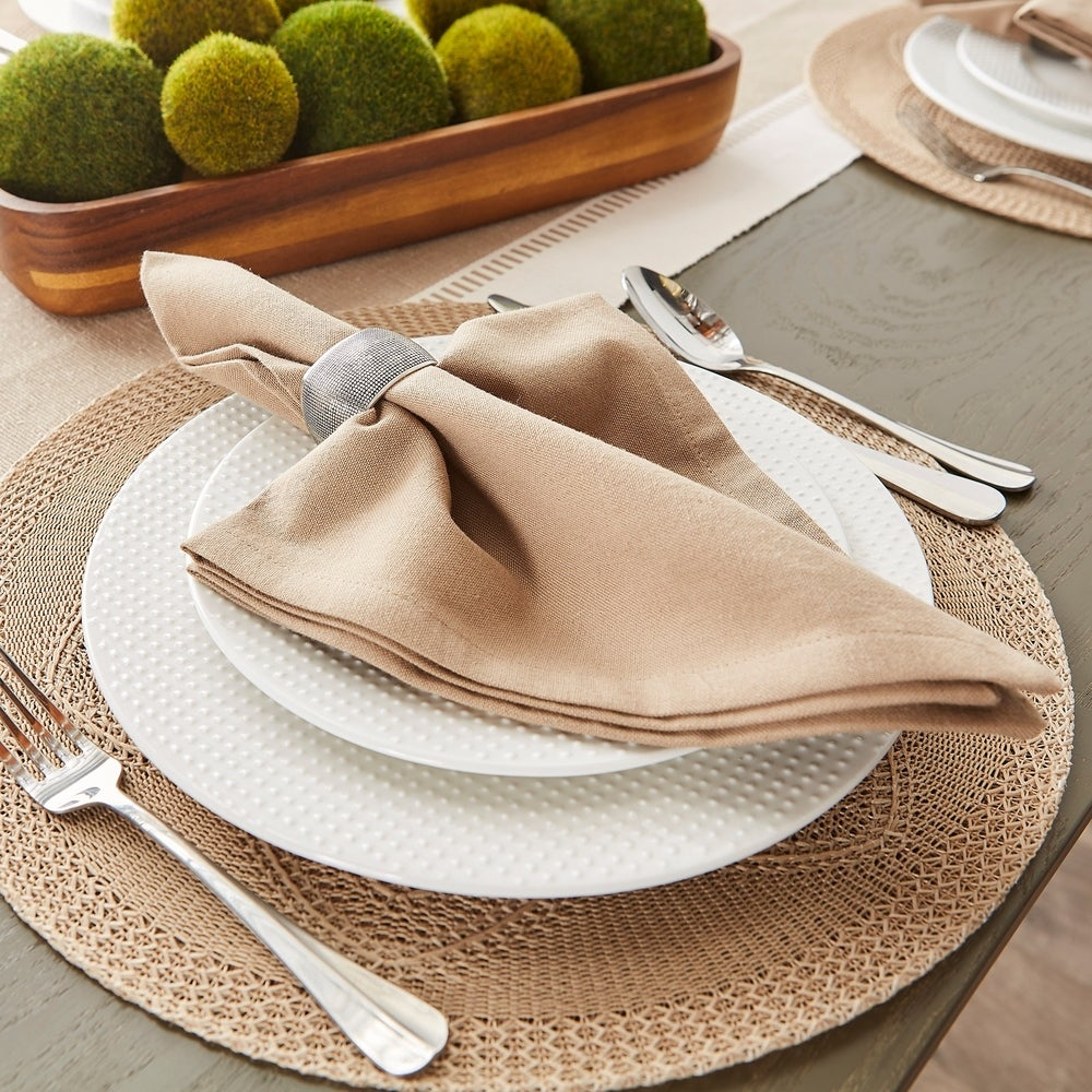 Shop DII Solid Cotton Napkin Set/6 - Overstock - 29227323