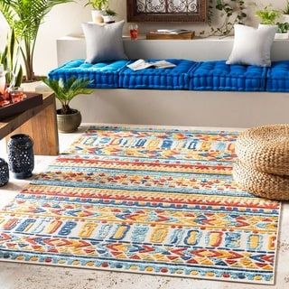 Link to Aldine Vibrant Boho Indoor/ Outdoor Area Rug Similar Items in Patterned Rugs