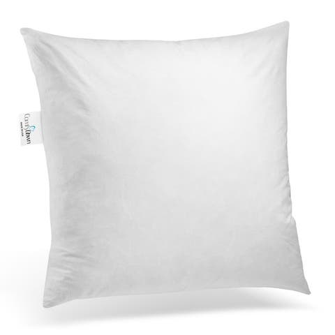 ComfyDown 95% Feather 5% Down, Square Decorative Pillow Insert, Sham Stuffer.