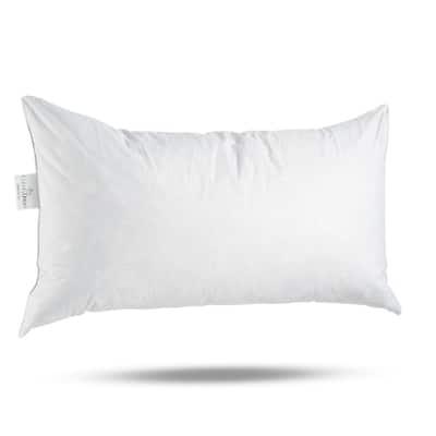 ComfyDown 95% Feather 5% Down, Rectangle Decorative Pillow Insert, Sham Stuffer.