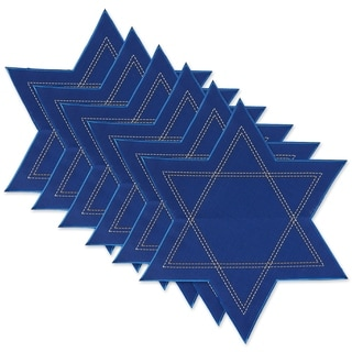 DII Star Of David Embroidered Placemat Set/6