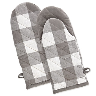 Link to DII Gray & White Buffalo Check Oven Mitt Set/2 Similar Items in Cooking Essentials