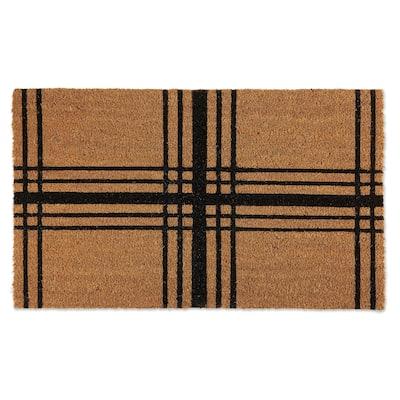 DII Black Farmhouse Plaid Doormat