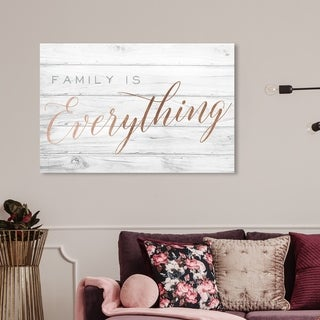Wynwood Studio 'Family is Everything' Typography and Quotes Wall Art Canvas Print - Bronze, Gray