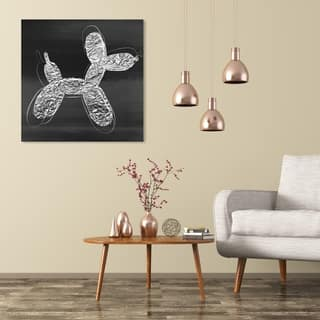 Wynwood Studio 'Balloon Dog Photocopy' Animals Wall Art Canvas Print - Gray, Black