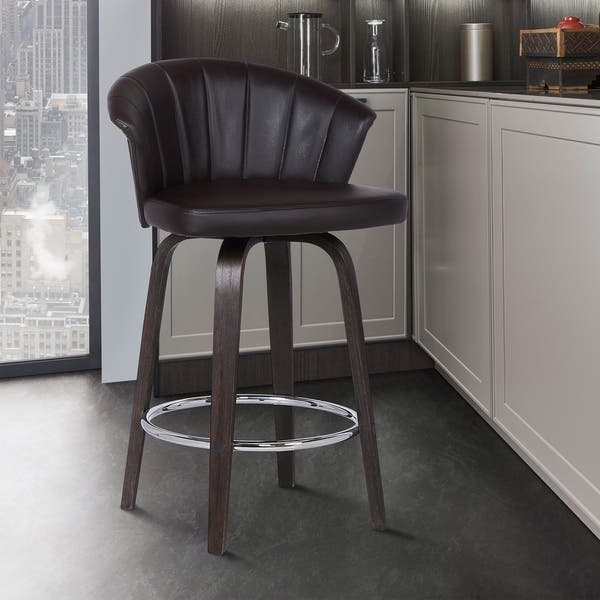 Prime Shop Ashley Wood Back 30 Swivel Brown Faux Leather Bar Pdpeps Interior Chair Design Pdpepsorg