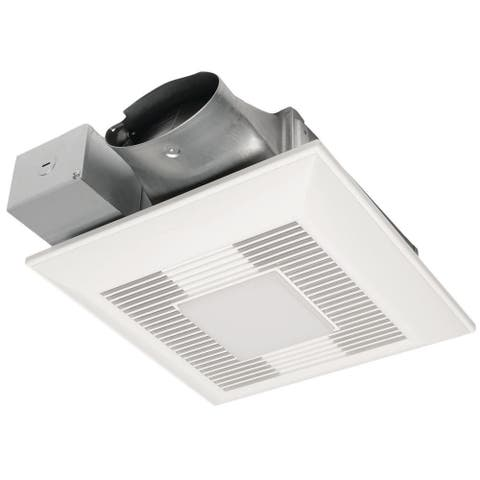 Panasonic WhisperValue-DC 50-80-100 CFM Pick-A-Flow Ceiling Ventilation Fan w/ LED Light - White