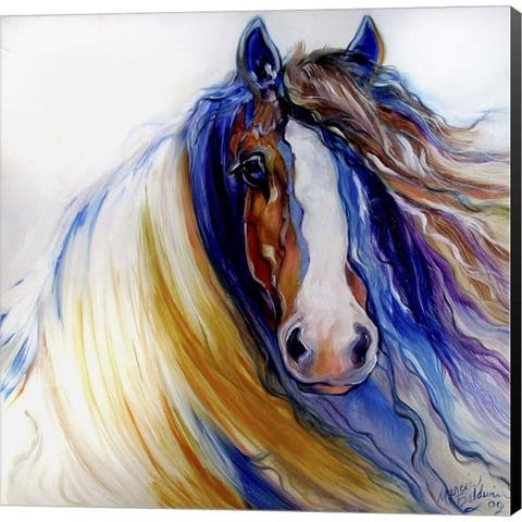 Marcia Baldwin 'Gypsy Vanner Rouge' Canvas Art