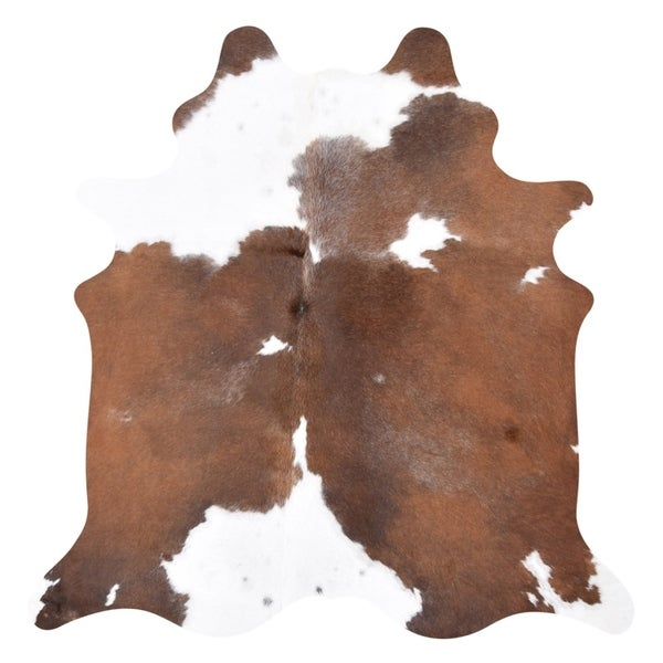 Carbon Loft McCrea Real Brown and White Cowhide Rug - 7' x 6'
