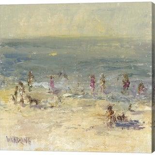 Marilyn Wendling 'Impasto Beach Day II' Canvas Art