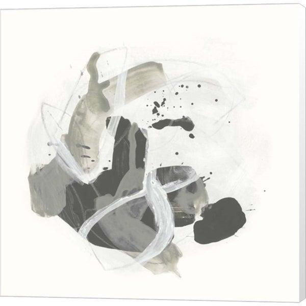 June Erica Vess 'Monochrome Missive III' Canvas Art