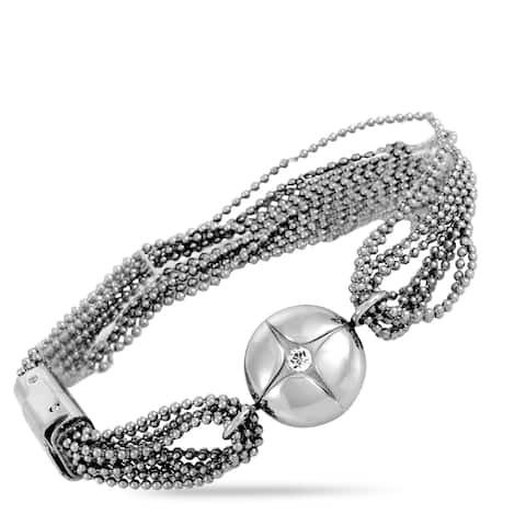 Swatch Trellisphere Stainless Steel and Crystal Bracelet