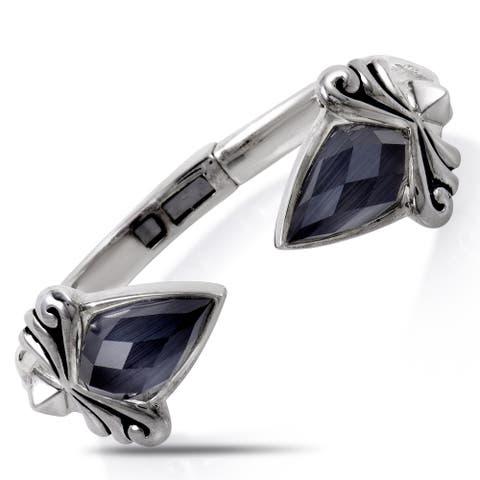 Stephen Webster Superstud Silver Gray Crystal Bangle Bracelet