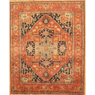"""Pasargad Home Serapi Hand-Knotted Wool Area Rug - 8'11"""" X  9' 1"""""""