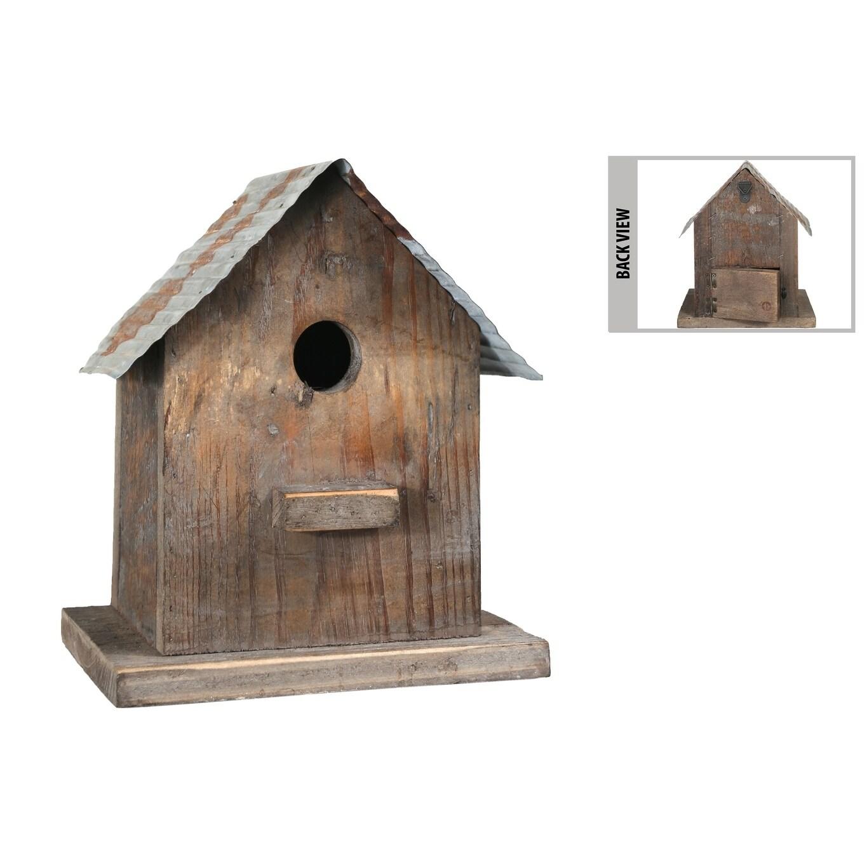 UTC55119: Wood Rectangle Bird House with Metal Rustic Roof Design, on modern birdhouse designs, mosaic birdhouse designs, cute birdhouse designs, exotic birdhouse designs, awesome birdhouse designs, unusual birdhouse designs, interesting birdhouse designs, whimsical birdhouse designs, ornate birdhouse designs, creative birdhouse designs,
