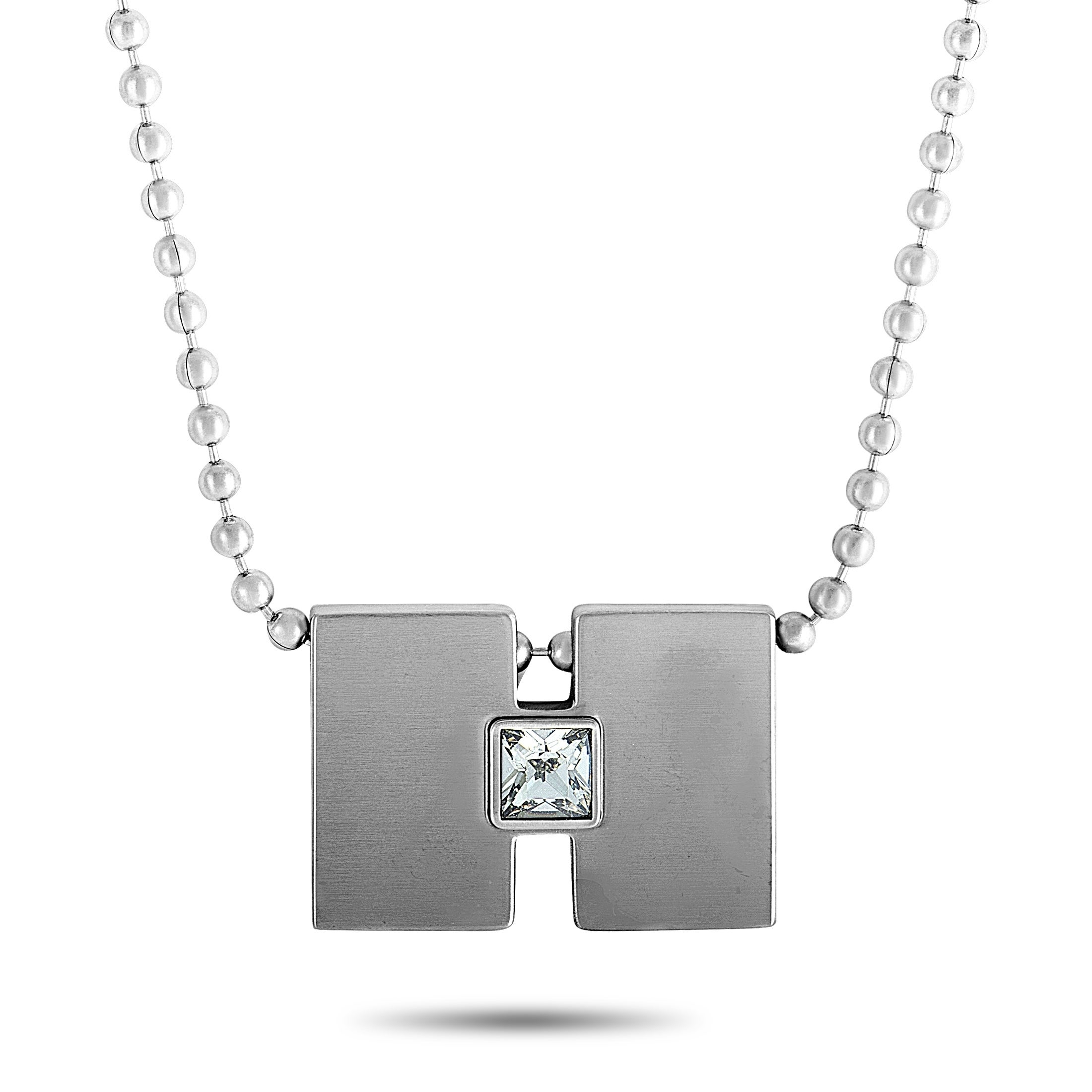 Swatch Topic Path Stainless Steel and Smoky Crystal Necklace