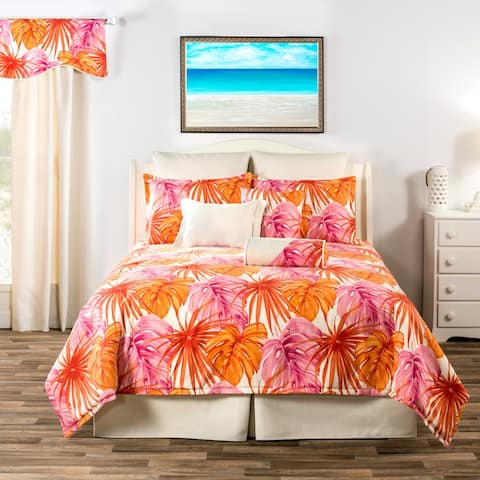 South Beach tropical pink and orange throw pillows