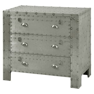 Carbon Loft Muto Industrial 3-drawer Aluminum and Chrome Chest