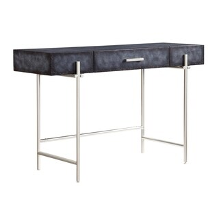 Somette Chester Mottled Aged Graphite One Drawer Desk/Console Table