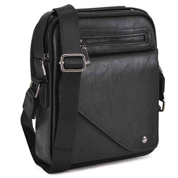 Dasein Men's Faux Leather Crossbody/Messenger Bag. Opens flyout.